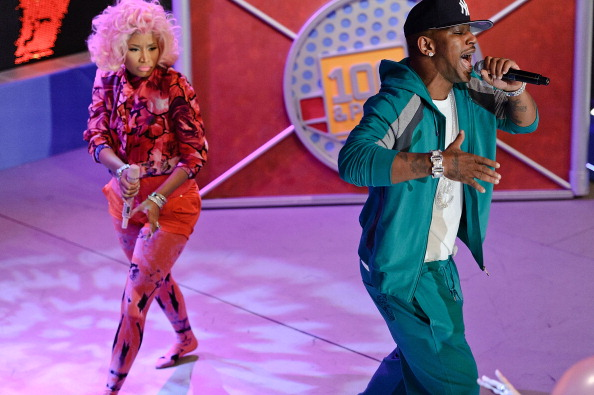 "Nicki Minaj, 2 Chainz, Beenie Man And Cam'ron Visit BET's ""106 & Park"""